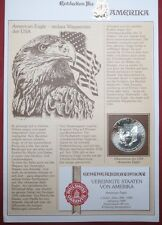 1989  AMERICAN SILVER EAGLE, 1 Oz. BULLION COIN, in a Vintage GERMAN NEWSLETTER