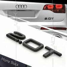 MATTE BLACK 2.0T REAR BOOT TRUNK LOGO LETTER EMBLEM BADGE FOR AUDI QUATTRO SLINE