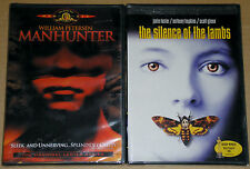 Horror Thriller DVD Lot - Manhunter (New) The Silence of the Lambs (New) FS