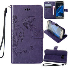 Pattern PU Leather Wallet Card Case Stand Cover For SAMSUNG Galaxy On 5-Purple