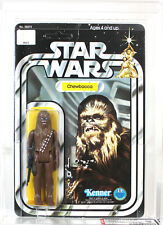 Vintage Star Wars Carded 12 Back-A Chewbacca (Green Crossbow/SKU on Stand) AFA80