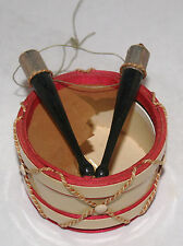 ANTIQUE GERMAN DRESDEN SNARE DRUM PAPER CELLO CANDY CONTAINER CHRISTMAS ORNAMENT