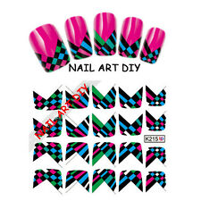 20Nail art water sticker transfers FRENCH adesivi per unghie BUY 3 GET 1 FREE!!!