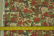 "By-the-Half-Yard, 42"", Garden Theme on Tan Quilter's Cotton, Hobby Lobby M6432"