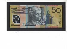 2010 Australia Fifty Dollars first prefix AA 10417794 unc