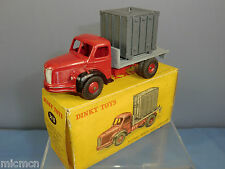 """French dinky no: 34B """"plateau berliet avec container"""" vn mib"""