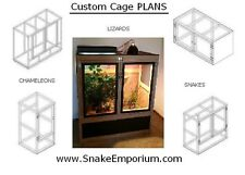 10 DIY Reptile Cage PLANS and 1 Egg Incubator PLAN on CD