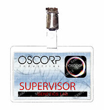 Spiderman Oscorp Industries Supervisor ID Badge Marvel Cosplay Prop Christmas