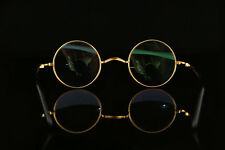 Luxury Titanium Vintage Full Eyeglasses frames Retro Eyewear Round Glasses Gold