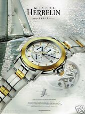 Publicité advertising 2002 La Montre Michel Herbelin Newport Class