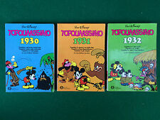 Walt DISNEY - TOPOLINISSIMO 1930-1931-1932 , 3 Volumi Oscar (1° Ed 1981) fumetto