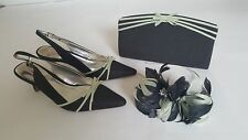 Jacques Vert Shoes Bag Fascinator~ Size UK 6 ~ Acorn Range Light & Dark Greens