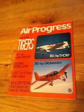 AIR PROGRESS Magazine 180-HP Thorp Grumman Helicopter Piper Tri Pacer Plane old