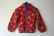 LL Bean Vtg Classic Kids Size Small S Pullover Fleece Sled Holiday Christmas Red