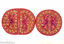 Antique Embroidery INDIA SILK, METALLIC THREAD, Rare Beads INTRICATE DESIGNS