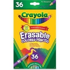Crayola Erasable Colored Pencils - 3.3 Mm Lead Diameter - Thick Point - Assorted