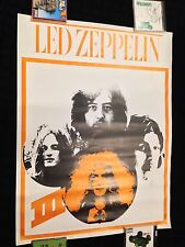 Led Zeppelin III Promo Poster Display Jimmy Page Sabbath LP Gibson Guitar