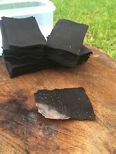 Char cloth 40g fire lighting,bushcraft survival,camping,water tight clip lid box