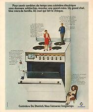 Publicité 1973  Cuisinière DE DIETRICH