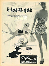 PUBLICITE ADVERTISING 114  1956  HELANCA NYLON maillot de bain slips sous veteme