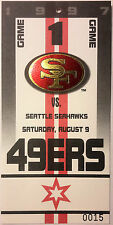 San Francisco 49ers vs. Seahawks 1997 Official NFL Credential & Game Pass - MINT