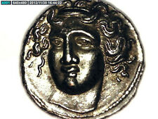 2ROOKS GREECE GREEK THESSALY LARISSA HEMIDRACHM NYMPH / HORSE REP. COIN GIFT