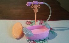 Barbie  DOG Clean UP Pup dollhouse wash tub bubbles station water pillow sprayer