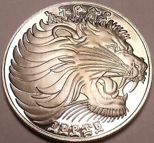Rare Proof Ethiopia EE-1969 FM Proof 25 Cents~Roaring Lion~Excellent~Free Ship