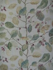 "SANDERSON CURTAIN FABRIC DESIGN ""Woodland Berries"" 1.9 METRES BAYLEAF/FIG"