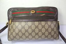 Vintage GUCCI Classic GG Monogram Reporter Shoulder Bag Italy