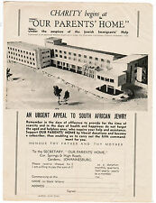 JUDAICA JEWISH AN URGENT CHARITY APPEAL TO SOUTH AFRICAN JEWRY JOHANNESBURG 1940
