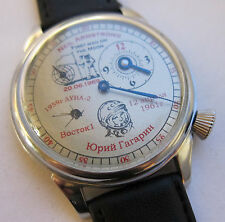 USSR.Soviet watch.Regulateur.Main milestones of Cosmonautics. Gagarin. Armstrong