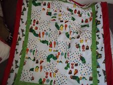 patchwork hungry caterpillar baby cot throw