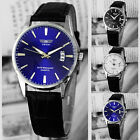 Fashion Luxury Leather Band Date Analog Quartz Sport Mens Wrist Watch *