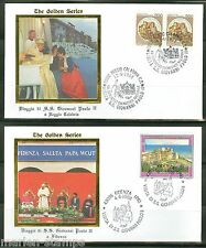 POPE JOHN PAUL II VISIT TO CALABRIA ETC 1988  GOLDEN SERIES FIRST DAY COVERS