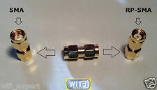 SMA Male To RP-SMA Male connect SMA to RP-SMA RF Connector Adapter USA