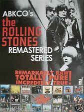 """ROLLING STONES """"ABKCO REMASTERED SERIES"""" U.S. PROMO POSTER-60's Shot Of The Band"""