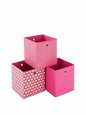 New Elegant Pink and Hearts HandyCanvas Storage Boxes - 3 Pack