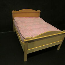 DOUBLE BED ~ WOODEN ~ Dollhouse Miniature ~ 1/12 scale