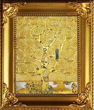 Gustav Klimt-Der Lebensbaum-Leinwand + Rahmen Kunstdruck 32x27cm Geschenk