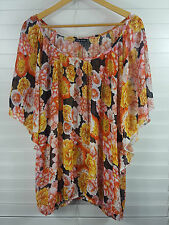 CITY CHIC sz S (or 16 - 18  ) womens Floral Batwing Top [#2787]