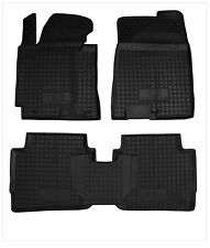 KIA CERATO 2013- 5pcs Rubber Car Floor Mats All Weather Alfombrillas Goma