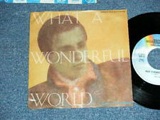 """LOUIS ARMSTRONG  Japan One Sided PROMO ONLY 7""""45 WHAT A WONDERFUL WORLD"""