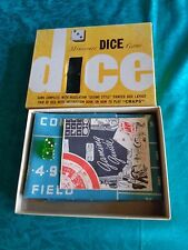 Craps Layout miniature dice game 1950's 1960's in box