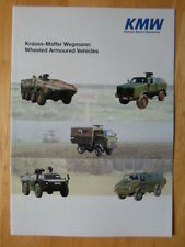 KMW Wheeled Armoured Military Vehicles brochure - Dingo Fennek Terrier Mungo etc