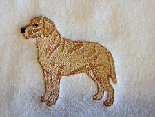 Labrador Retriever, Yellow Lab, Velour Hand Towel, Embroidered, Personalized