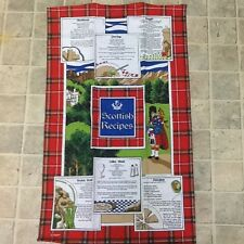 tea towel with Scottish recipes