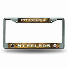 Pittsburgh Steelers Metal Chrome License Plate Frame Auto Truck Car NFL
