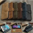 Cowhide Leather Wallet Stand Case Cover For iPhone 6 6s/Samsung S6 Edge+ Note5 4