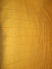 VINTAGE PRIMROSE YELLOW COTTON CANDLEWICK BEDSPREAD FRINGE SINGLE BED TUFT